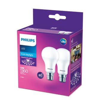 Philips LED Globe BC 12W 1360lm Cool Daylight - 2 Pack
