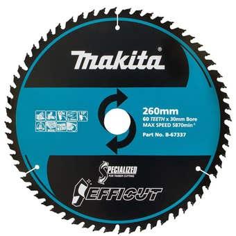 Makita TCT Efficut Saw Blade 60T 260mm