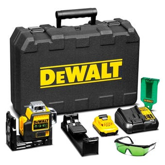 DeWALT 10.8V Li-Ion 360 Multi Line Laser Green Kit DCE089D1G-XE