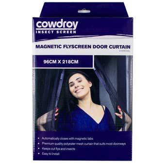 Cowdroy Magnetic Flyscreen Door Curtain 96 x 218cm