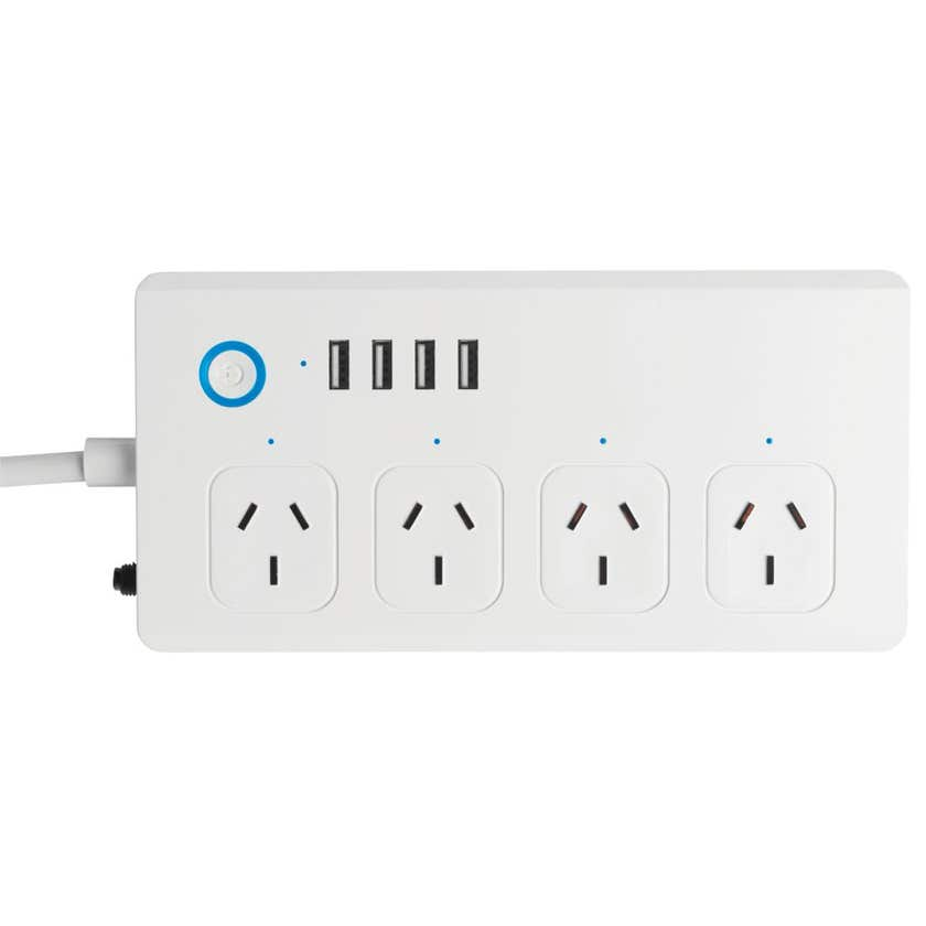 BrilliantSmart Wifi  4 Port Powerboard with USB Charger Lisbon