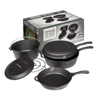 Camp Chef Cast Iron Cookware Set - 6 Piece