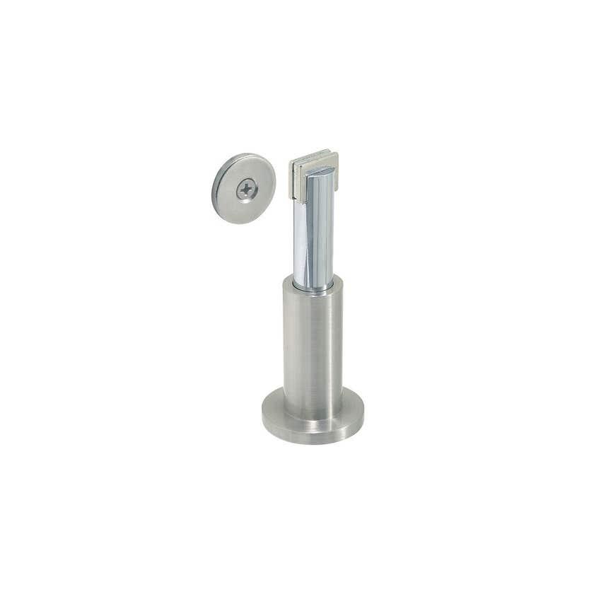Delf Adjustable Magnetic Floor/Wall Stop Satin Chrome