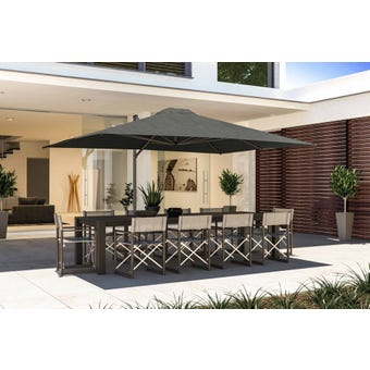 Coolaroo Cantilever Umbrella Rectangle Charcoal 3x4m Brampton