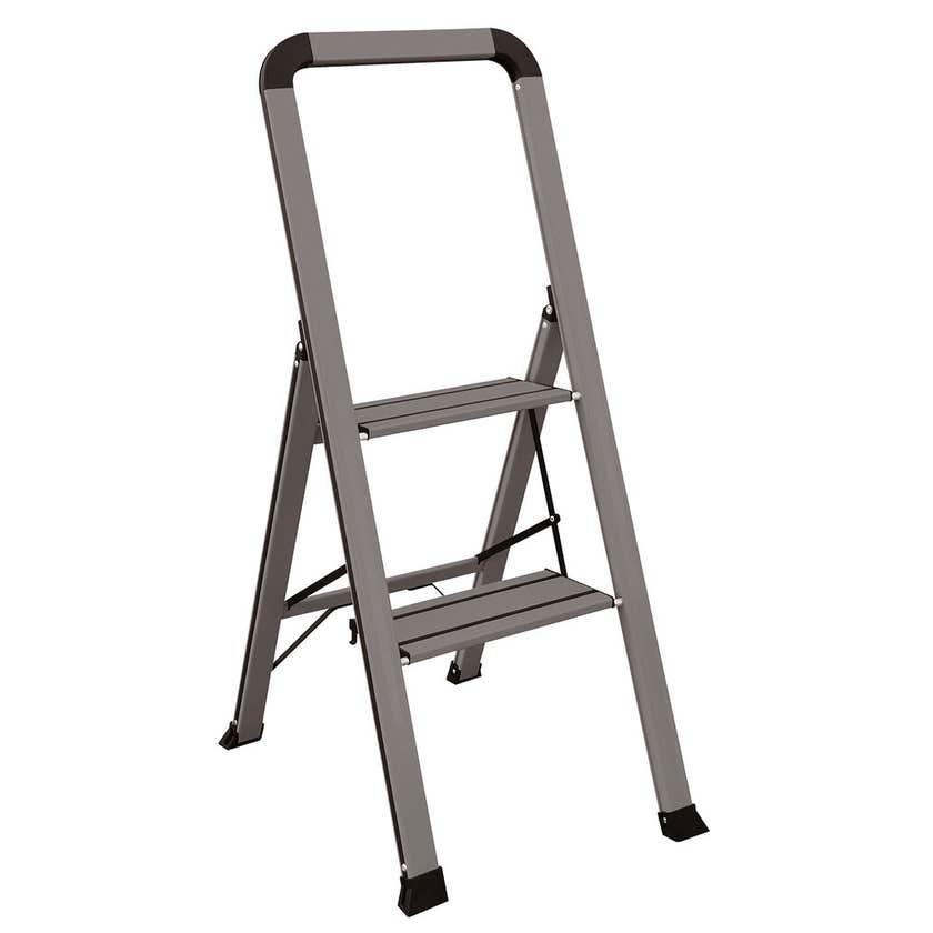 Faulkner™ 2 Step Euro Ladder 100kg Domestic Dark Grey