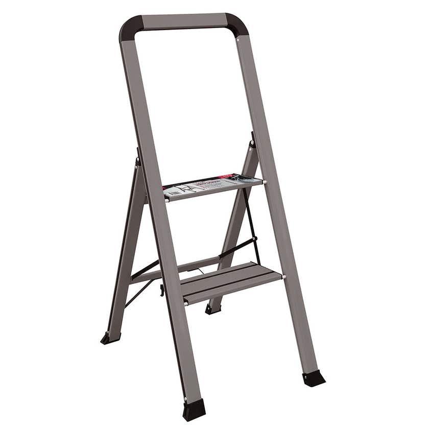 Faulkner 2 Step Euro Ladder 100kg Domestic Dark Grey