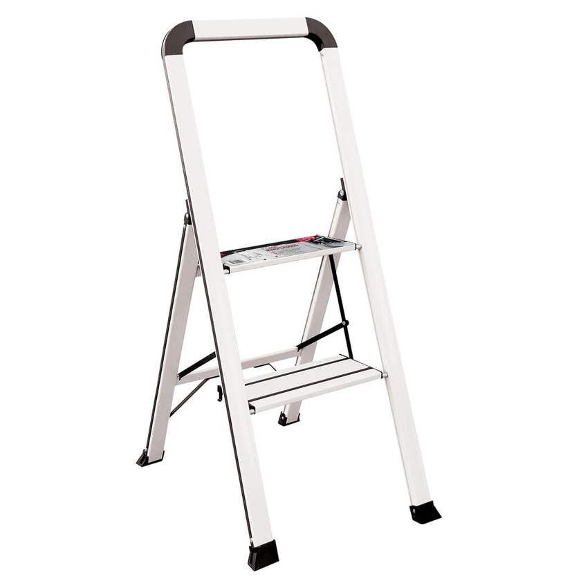 Faulkner 2 Step Euro Ladder 100kg Domestic White