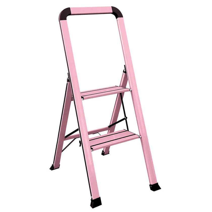 Faulkner 2 Step Euro Ladder 100kg Domestic Pink