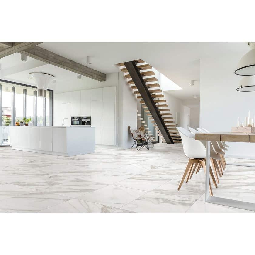 Marbletech Porcelain Tile White Matt 600 x 300mm