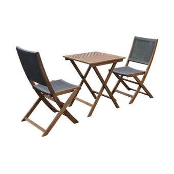 Havana 2 Seater Timber & Rope Cafe Setting