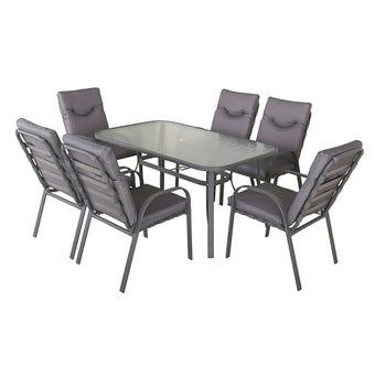 Brandon 6 Seater Steel Dining Set