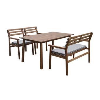 Lancashire 4 Seater Timber Dining Set