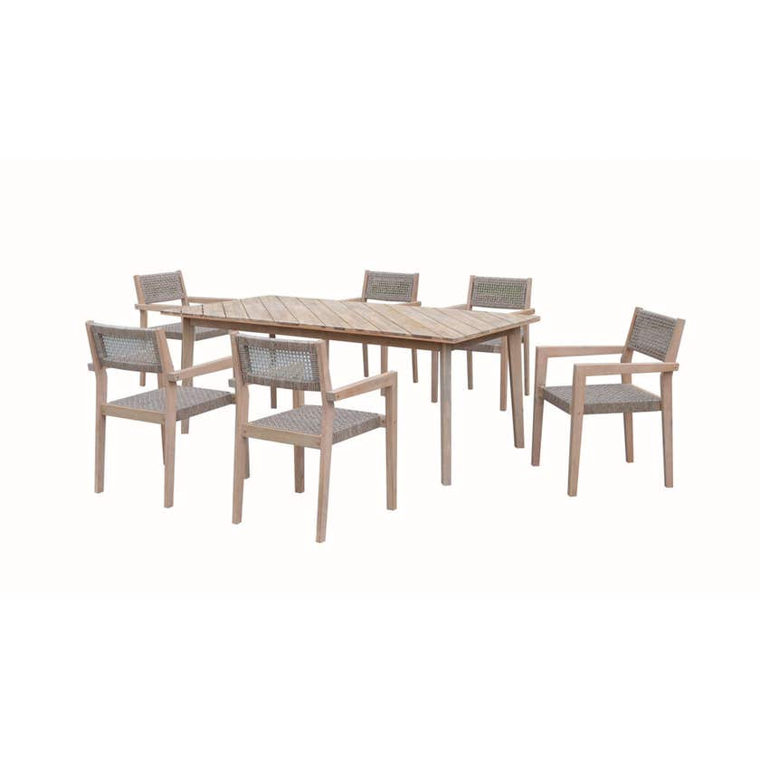 Bondi 6 Seater Timber Dining Set