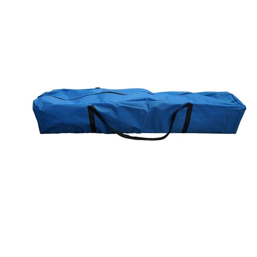 Pop-Up Gazebo Steel Blue 2.4 x 2.4m