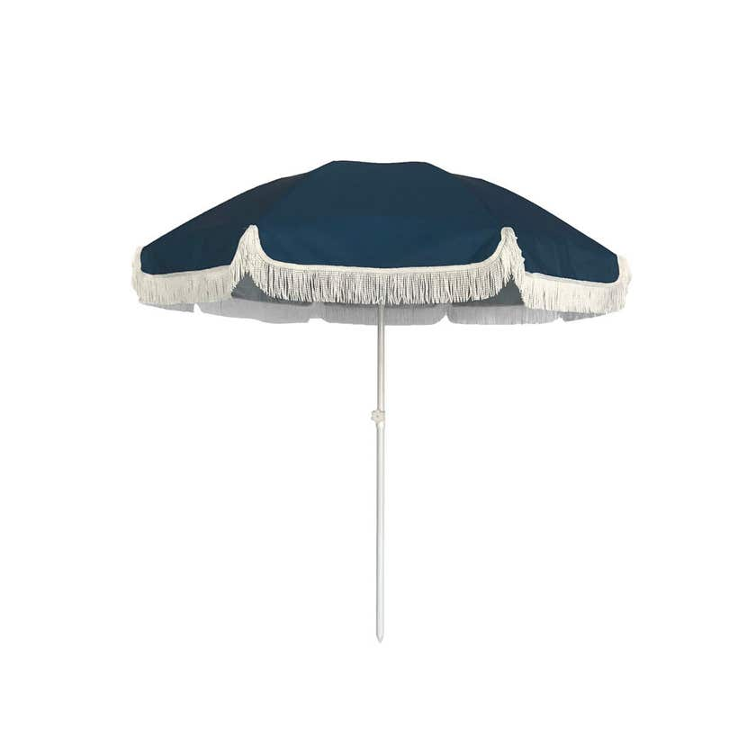 Beach Umbrella with Tassels Assorted Colours 1.8m