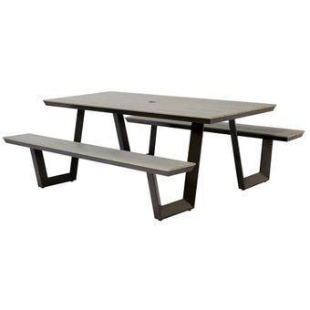 Manhattan 6 Seater Aluminium Bench Set