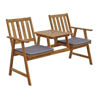 Jack & Jill 2 Seater Oiled Timber Bench