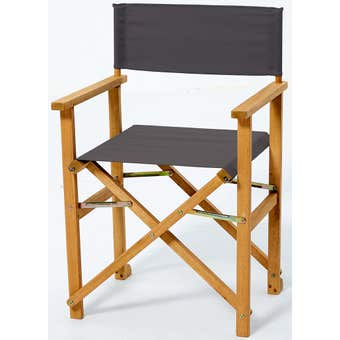 Timber Director's Chair Charcoal