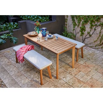 Rye 4 Seater Timber Bench Set