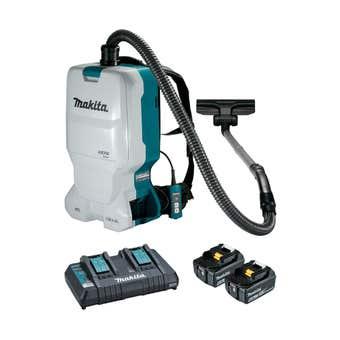 Makita 18V Brushless 2 x 6.0Ah Backpack Vacuum Kit DVC660G2X1