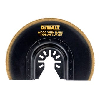 DeWALT Blade Semicircle Flush Cut Multi-Tool Wood/Nails 102mm