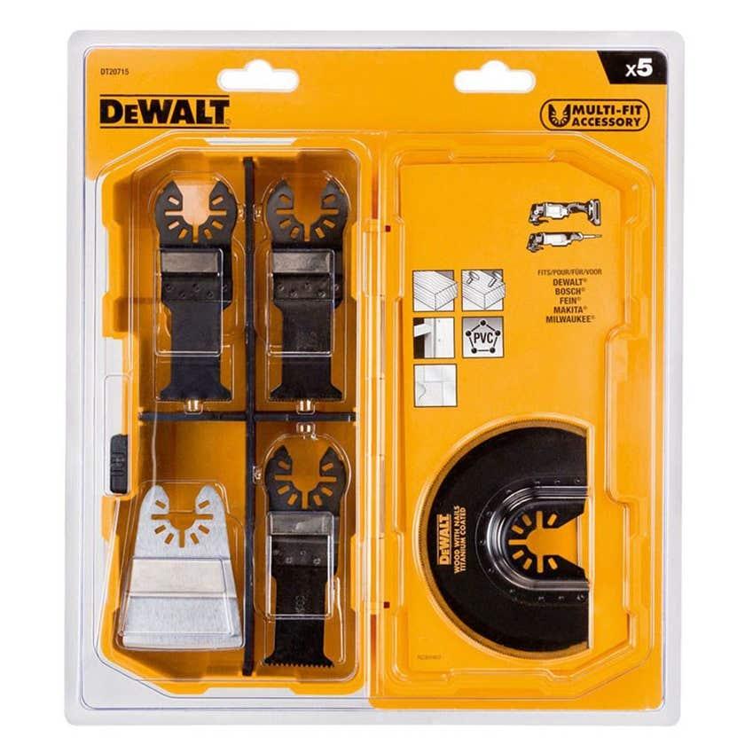 DeWALT Multi-Tool Wood/Nails Blade Set - 5 Piece