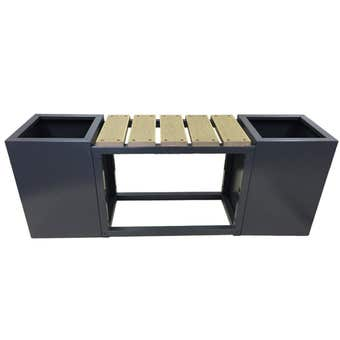 Planter Box with Seat Charcoal