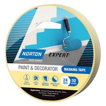 Norton Masking Tape Paint & Decorator 24mm X 50M