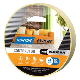 Norton Masking Tape Contractor 3 Day 24mm X 50M
