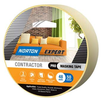 Norton Masking Tape Contractor 3 Day 48mm X 50M
