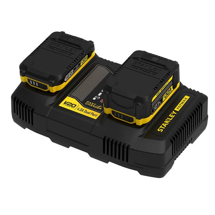 Stanley FatMax V20 18V Dual Port Battery Pack Fast Charger