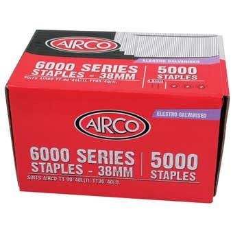 Airco 6000 Series Staples 38mm - Box of 5000