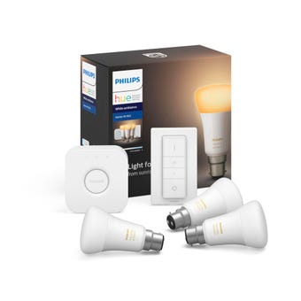Philips Hue Starter Kit with Dimmer BC White Ambiance
