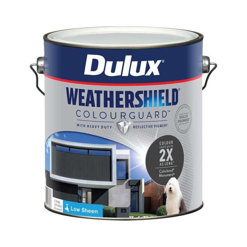 Dulux Weathershield ColourGuard Exterior Low Sheen Monument 4L