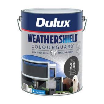 Dulux Weathershield ColourGuard Exterior Low Sheen Monument 10L