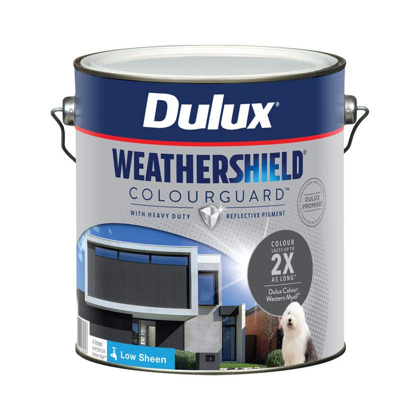 Dulux Weathershield ColourGuard Exterior Low Sheen Western Myall 4L