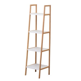 4 Tier Bamboo & MDF Shelf Unit