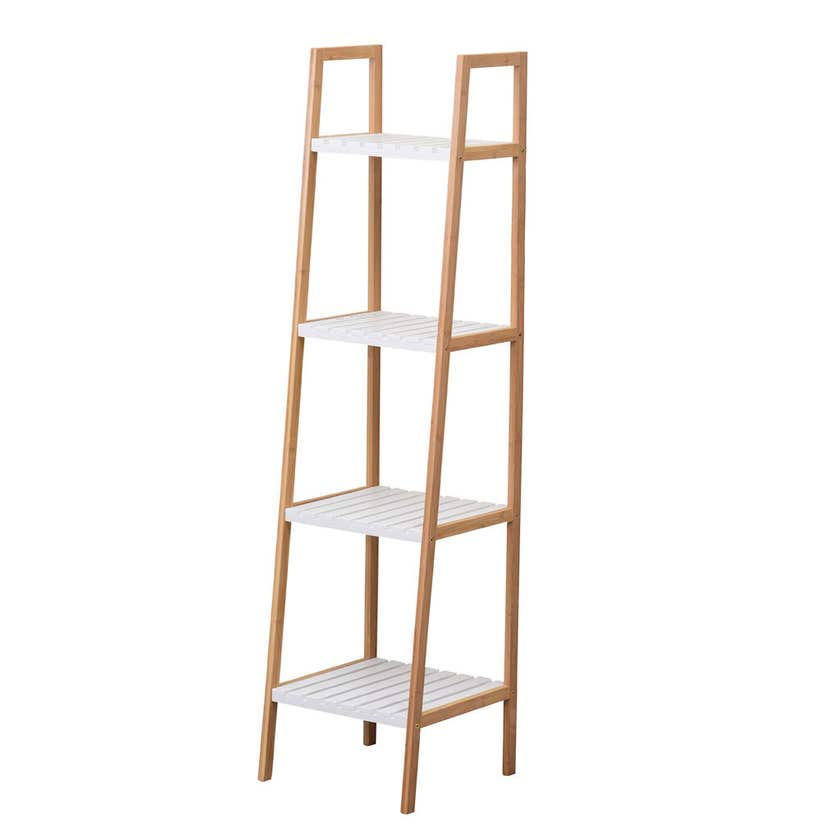 4 Tier Bamboo & MDF Shelf Unit