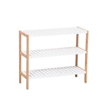 Shoe Rack 3 Tier Bamboo & MDF