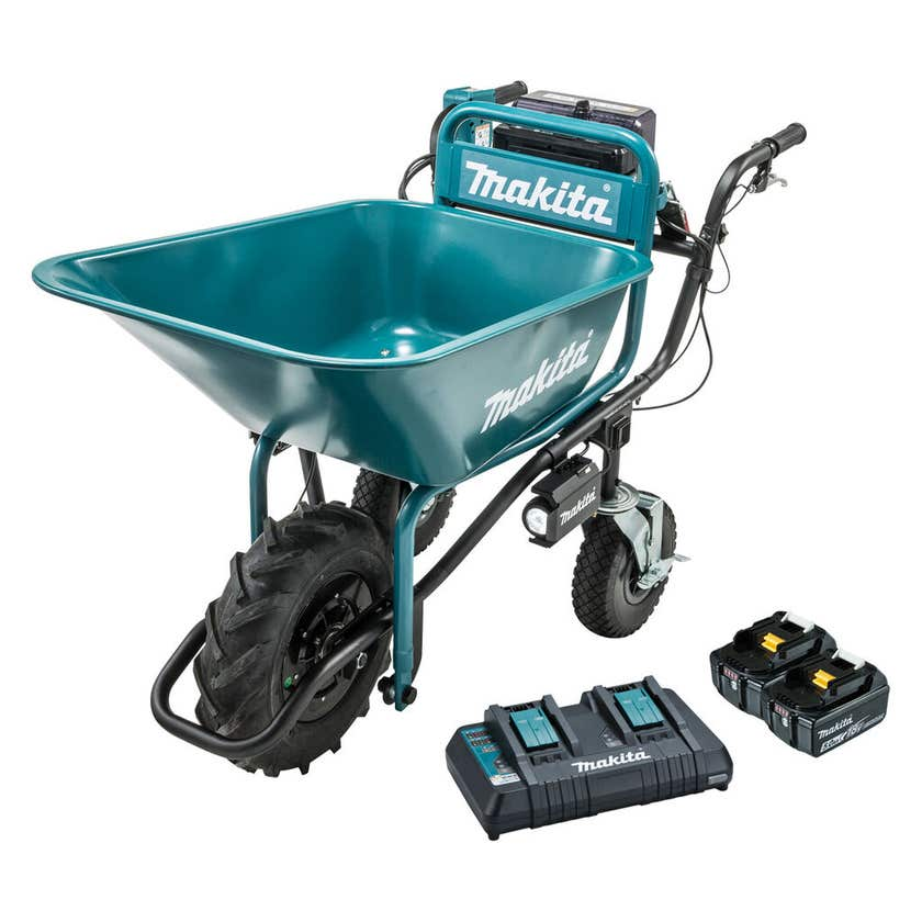 Makita 2 x 18V Brushless Wheelbarrow Bucket Kit DCU180PT2B