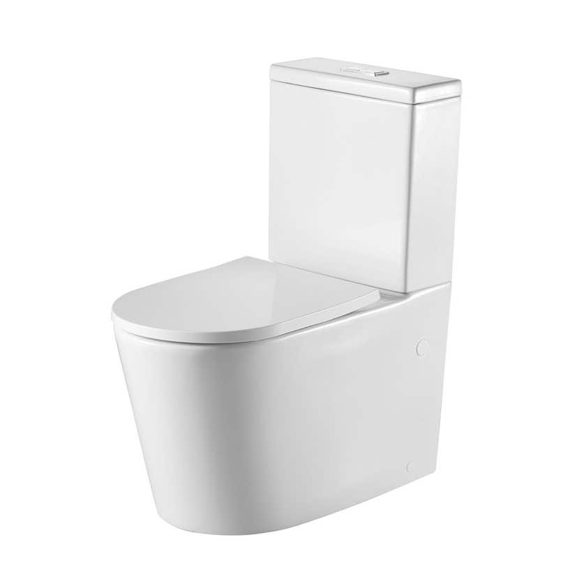 Oliveri Vienna Back to Wall Toilet Suite White