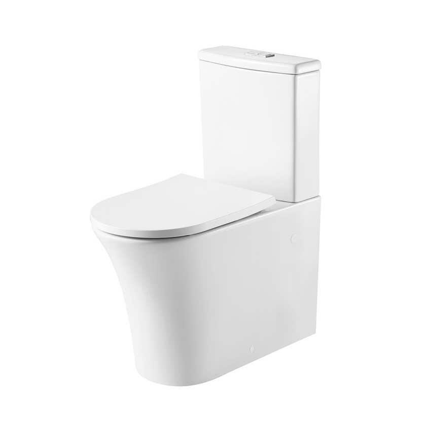 Oliveri Dublin Back to Wall Toilet Suite White
