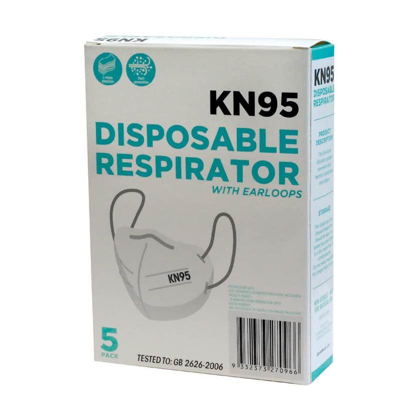 Disposable Respirator Masks KN95 - 5 Pack