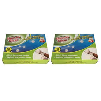 Vinyl Disposable Gloves Medium/Large - 100 Pack