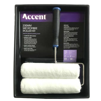 Accent Roller Kit Microfibre 2 Covers 230mm