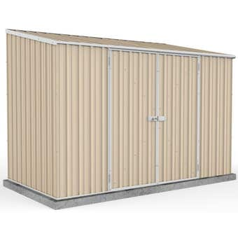 Absco Space Saver Shed Skillion Roof W3.0 x D1.52 x H2.08m