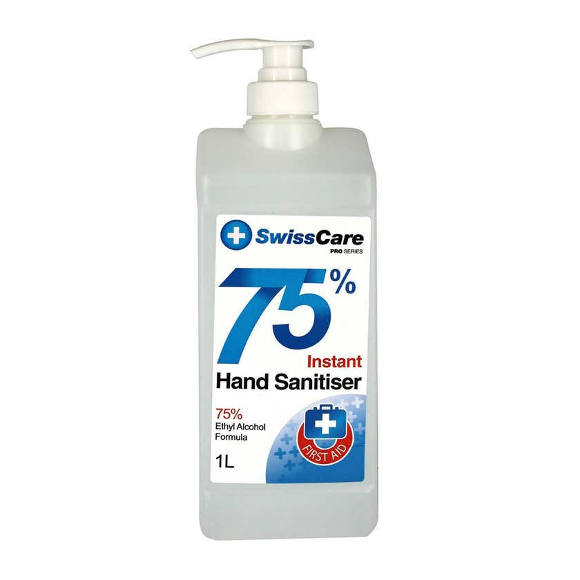 Swisscare Hand Sanitiser Premium Hospital Grade 75% 1L