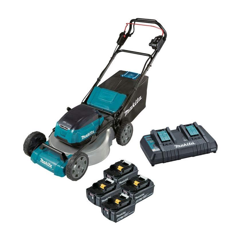 Makita 36V (18V x 2) Brushless Self-Propelled Lawn Mower 534mm Kit DLM532PT4X