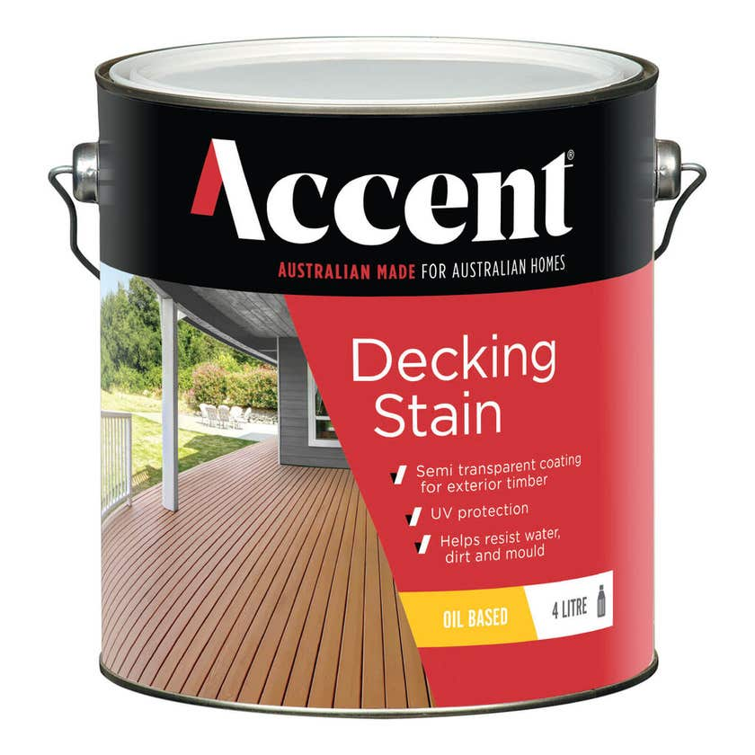 Accent Decking Stain Oil Based Merbau 4L