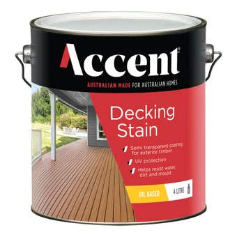 Accent Decking Stain Oil Based Jarrah 4L